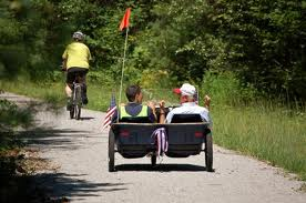 Riding in style on the Northern Rail Trail