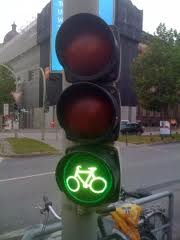 green light bicycle