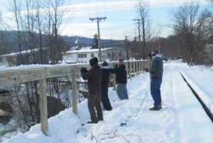 Building Rail on Bridge over Mascoma River